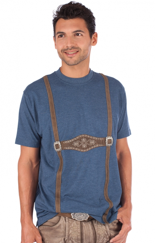 Trachten T-Shirt blau
