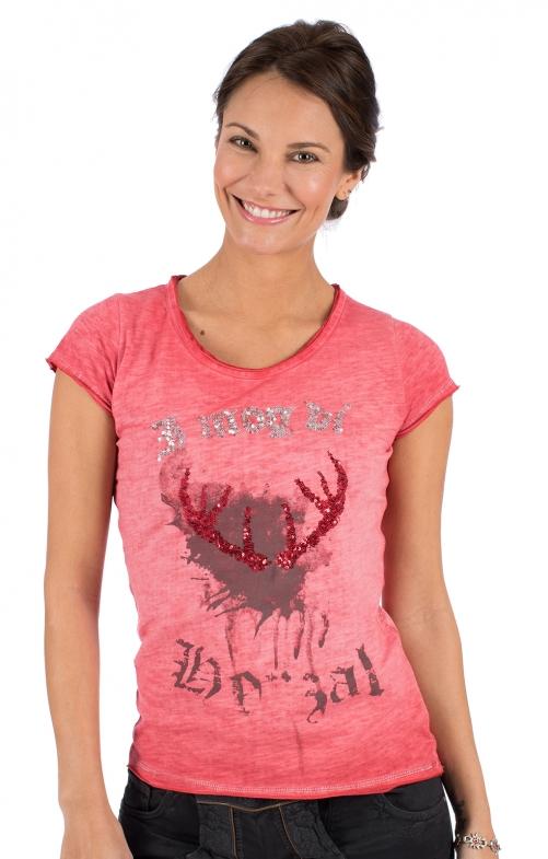 Trachten T-Shirt INDIRA rot