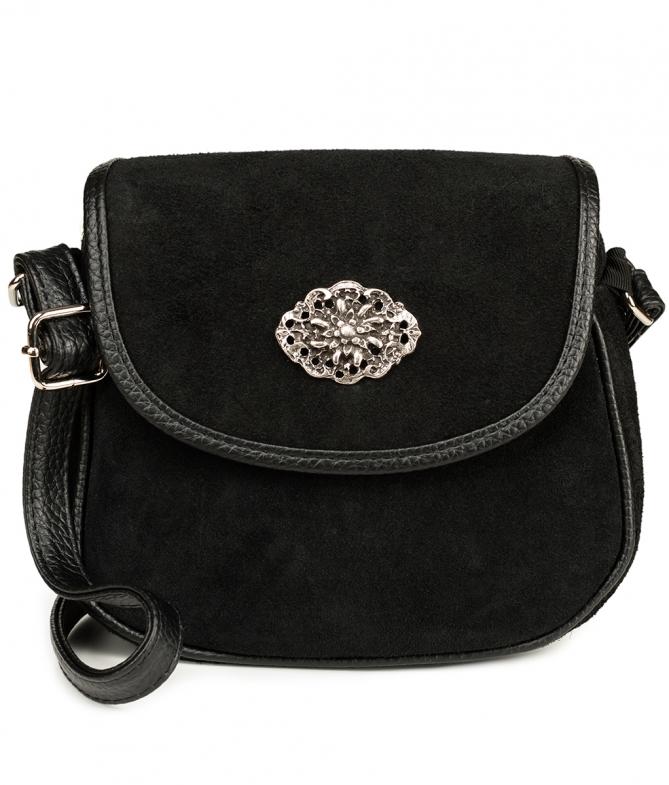 Trachtentasche TA3000 Veloursleder, schwarz