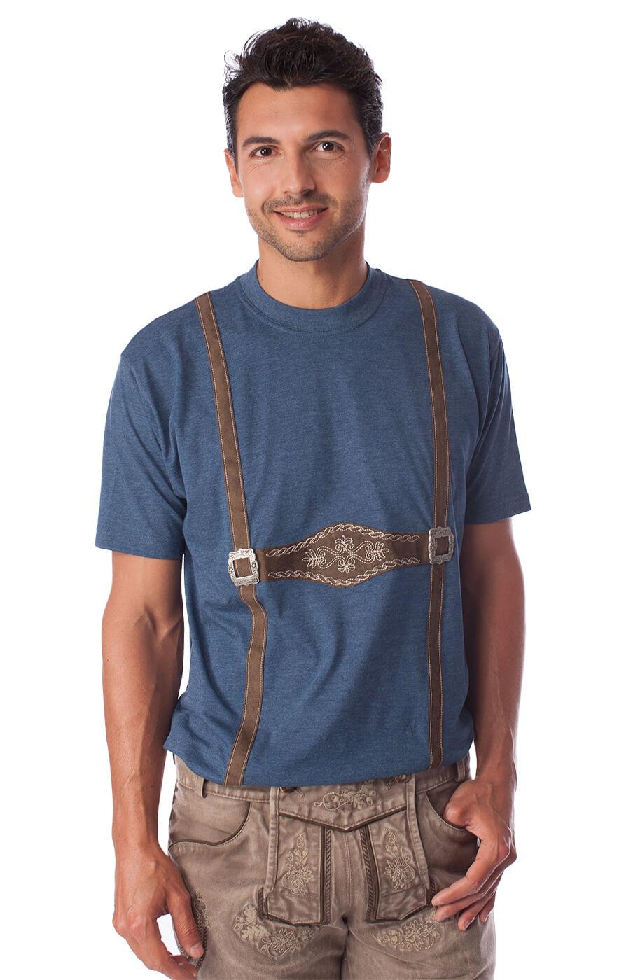 weitere Bilder von Trachten T-Shirt blau