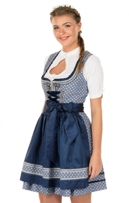 Krüger Minidirndl SWEET HEART 50cm blau