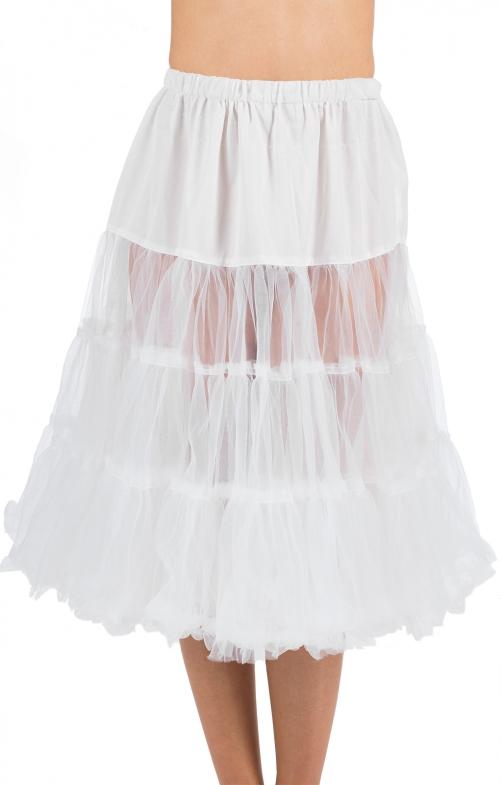 Trachten Petticoat 70cm weiss