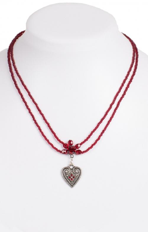 Halskette perlen rot
