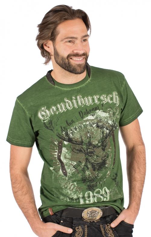 Trachten T-Shirt B36 - GAUDIBURSCH grün