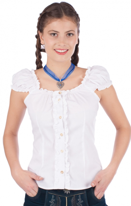 Trachtenbluse kess weiss