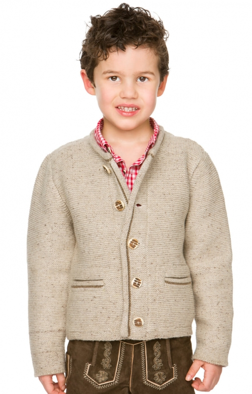 Kinder Strickjacke natur