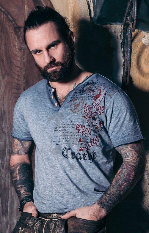 Trachten T-Shirt FELIX blau
