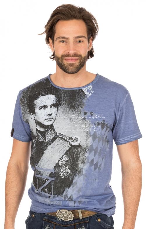 Trachten T-Shirt M30 WIGGERL blau