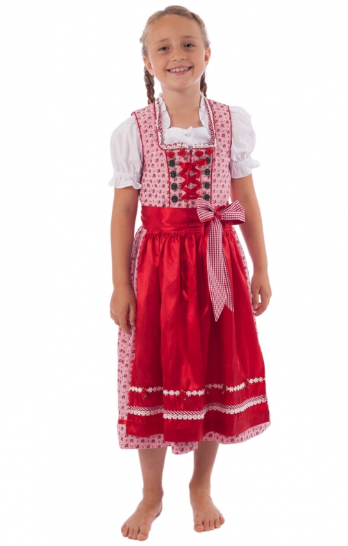 kinderdirndl 3tlg incl bluse rot. Black Bedroom Furniture Sets. Home Design Ideas